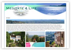 Meditate 4 Life Villa Website Screenshot